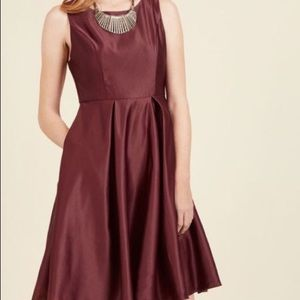 ModCloth Wishing and Wowing Dress in Wine